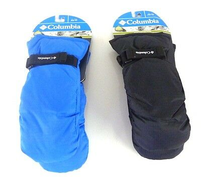 Columbia Sportswear Core Ski  Mittens, Youth Sizes, Black Or Blue, Many Sizes