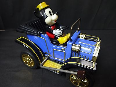 1981 MASUDAYA Tin Toy Mickey Mouse Classic Car Made in JAPAN