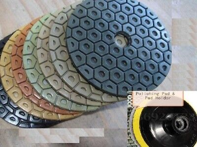 Diamond Polishing Pad 7 inch Wet/Dry 7 Piece Granite Stone Concrete Marble floor