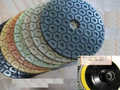 Diamond Polishing Pads 7 inch Wet/Dry 7 Pieces Granite Stone Concrete Marble