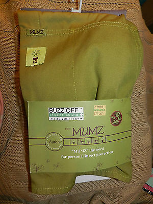 Mumz Buzz Off Insect Shield Apron~Green~New With Tags