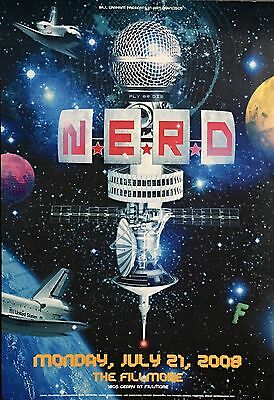 N.E.R.D Performing at Fillmore San Fransisco (2008) Music Concert Event Poster