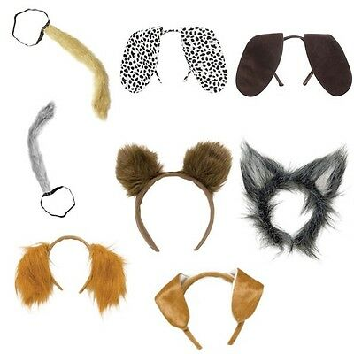 Animal Fancy Dress Accessory Animal Ears Headband Animal Tails Bunny Cat Dog