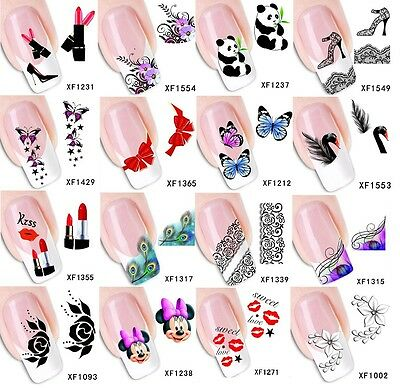 Nail Art Stickers 3D Decals Water Transfers - High Quality!