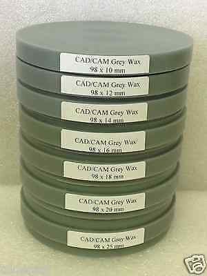 CAD/CAM Grey Milling Wax 98 mm Diameter  Package of 3