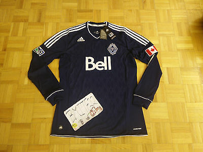 NWT Vancouver Whitecaps Adidas MLS Formotion Long Sleeves Soccer Men Jersey XL