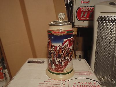 1998 Holiday Lidded Signature Edition  Budweiser  Beer Steins