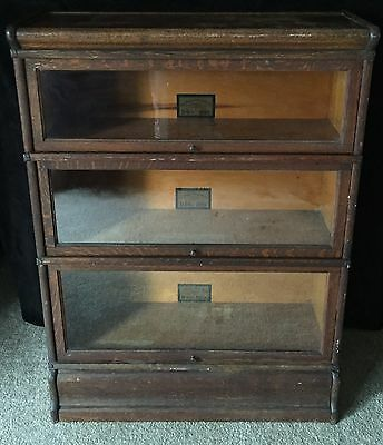 """Antique Globe Wernicke Co. 3 Stack """"D"""" Sectional Bookcase SPRING SALE $100 OFF"""