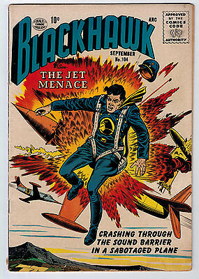 Blackhawk #104 4.0 Off-White/white Pages Silver Age