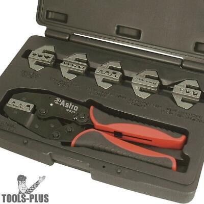 7pc Professional Quick Change Ratcheting Crimping Tool Astro Pneumatic 9477 New