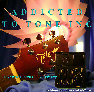 """Takamine TP-4T """"G"""" Series Acoustic Guitar preamp NEW!"""