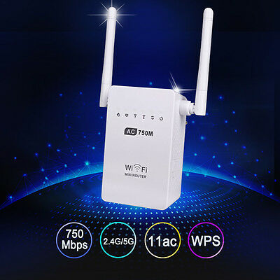 750Mbps Antenna Wifi Repeater Wireless Range Extender 802.11N Booster Signal