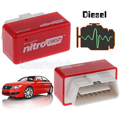 Nitro OBD2 Economy Chip Tuning Box Interface Plug&Drive for Diesel Car Universal
