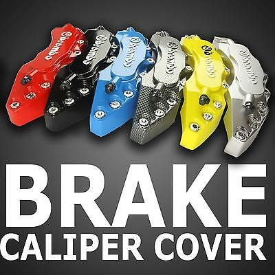 3D Brembo Style Race Disc Brake Caliper Covers Front & Rear New Universal w/Glue