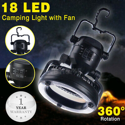 Outdoor Camping 2-In-1 Combo 18 LED Lantern and Fan Camping Equipment for Hiking