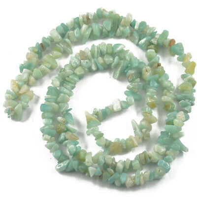 Filo Di Gemma Pietre Amazonite Nugget Chips 5-8mm Per Collana Bracciale