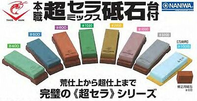 "Naniwa Japanese waterstone whetstone sharpening stone ""Chosera"" series w/nagura"