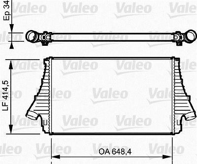 VALEO 818722 Intercooler  for OPEL VAUXHALL FIAT SIGNUM VECTRA CROMA