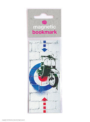 Brainbox Candy Mod Scooter Vespa retro magnetic bookmark cheap gift present