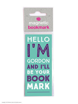 Brainbox Candy Hello I'm Gordon magnetic bookmark cheap gift funny present