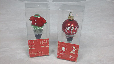 Christmas bottle stoppers.