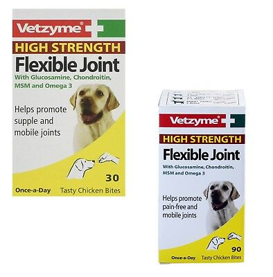 Dog Supplement Flexible Joint High Strength Tablets Vetzyme Pain Free Vitamin