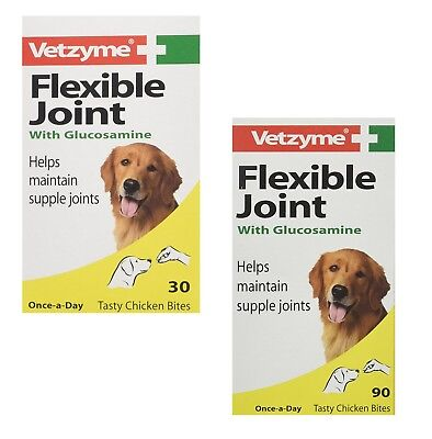 Dog Supplement Vetzyme Flexible Joint with Glucosamine Tablets for Happy Vitamin
