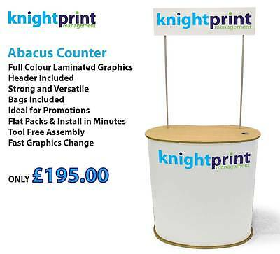 Pop Up Counter - Promotional Display - Exhibition Stand - Plinth - Trade Show