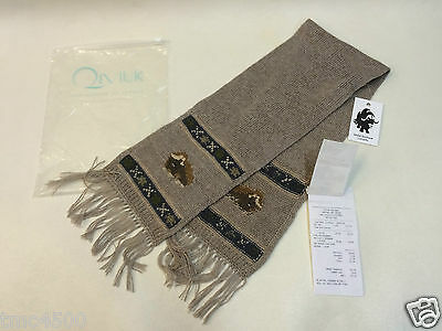 New Luxury Qiviuk Boutique 100% Hand Knitted Muskox Kids Scarf