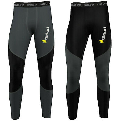 Didoo Mens Compression Base Layer Skin Tight Long Pants Running Thermal Leggings