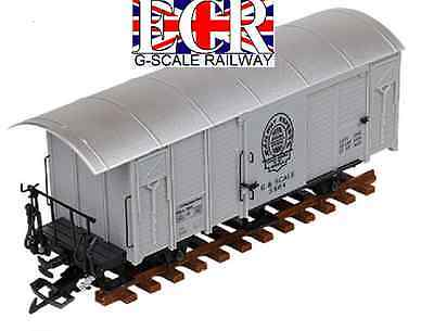 G SCALE GAUGE RAILWAY BOX CAR GREY 45mm GAUGE BOXCAR GARDEN ROLLING STOCK TRAIN