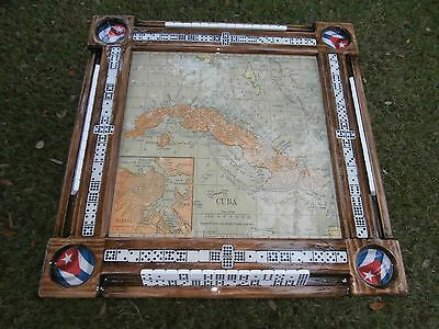 Cuban Map Double Nine Domino Table by Domino Tables by Art