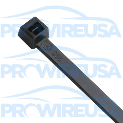 """7"""" Cable Ties Black UV 50# 100 Pieces !!!MADE IN USA!!! MS3367-1-0 Nylon Ties"""