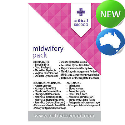 Midwifery Reference Cards VALUE Pack for Midwives | Doctor | Drug Card