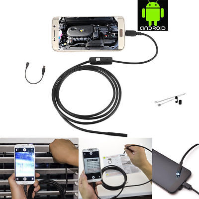 5M Android Endoscope 7mm 6 LED USB Waterproof Borescope Inspection Camera