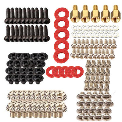 155PCS Computer Screws Kit for Motherboard PC Case CD-ROM Hard Disk Fan Notebook
