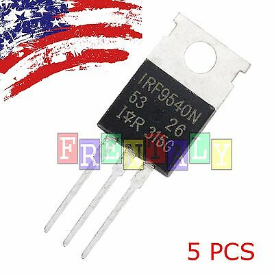 "5 x IRF9540 P-Channel Power MOSFET 23A 100V TO-220 ""IR"""