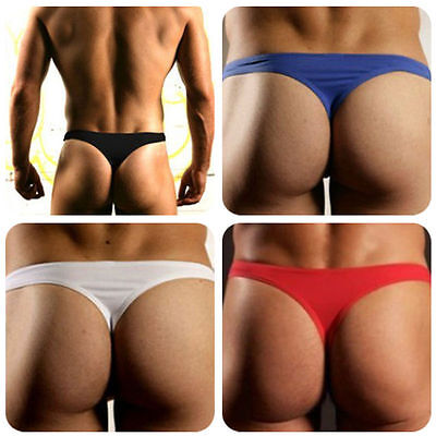 Hot Sale Mens Briefs Thongs Underwear Bulge Pounch Trunks T-back Underpants