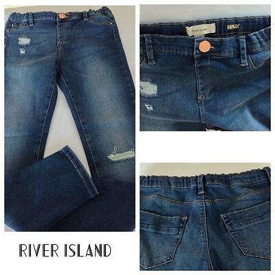 ex- River Island GIRLS Mid Wash Molly Jeggings (RIG-05)