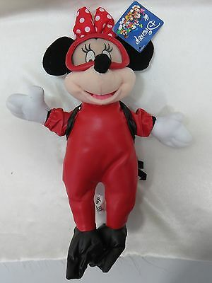 "Disney Minnie Mouse Suba Diver Tank, Fins Goggles 16""  Plush New with Tags"
