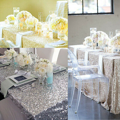 100*150CM Sparkly Rectangle Sequin Tablecloth Wedding Beautiful For Wedding Deco
