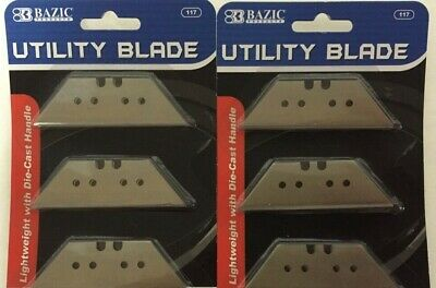Two/10 Utility Blades Razor Sharp Box Opener Carton Cutter Knife Replacement