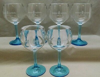 Bombay Sapphire Gin/Brandy  Acrylic Sipping Glass lot of 6 -  3 oz.NEW