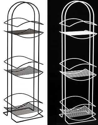 New Rustproof 3 Tier Free Standing Bathroom Shower Tidy Organiser Rack Caddy