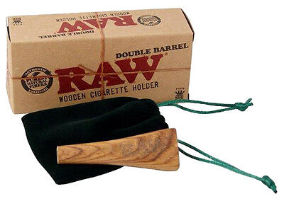 "RAW® ""DOUBLE BARREL"" Wooden Cigarette Holder King Size (Zigarettenhalter)"