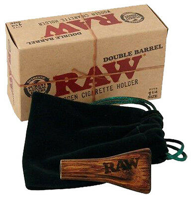 "RAW® ""DOUBLE BARREL"" Wooden Cigarette Holder 1¼  Size (Zigarettenhalter)"