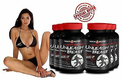 UNLEASH YOUR BEAST SIZE UP - Maximum Sexual Performance - Super Hard 6 Bottle