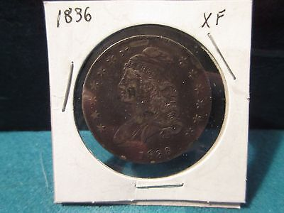 1836 XF Capped Bust Half Dollar Toned