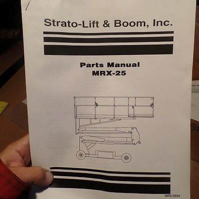 strato lift boom mrx 25 parts manual mrx 0894 stratolift rh picclick com Strato Lift Inspection Forms SR20 Strato-Lift