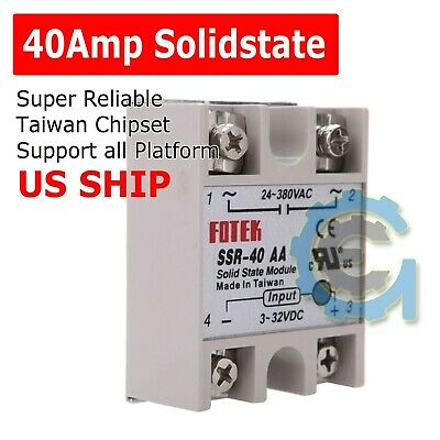 Output 24V-380V 25A SSR-25 DA Solidstate Relay PID Temperature Controller